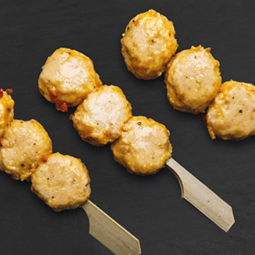 Mini balletjes brochette curry